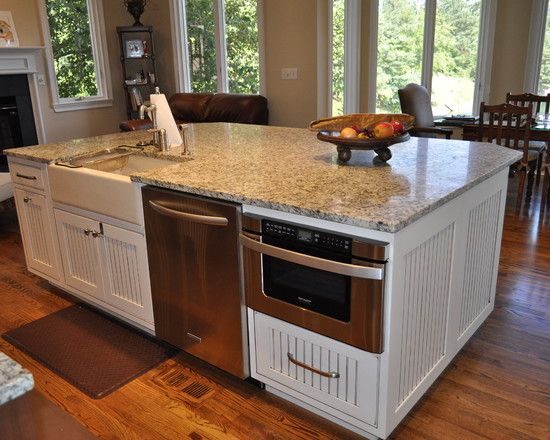 Sharp Microwave Drawer Home Design Ideas Pictures Remodel And Decor Kitchen Island With Sink Kitchen Remodel Kitchen Island With Sink And Dishwasher