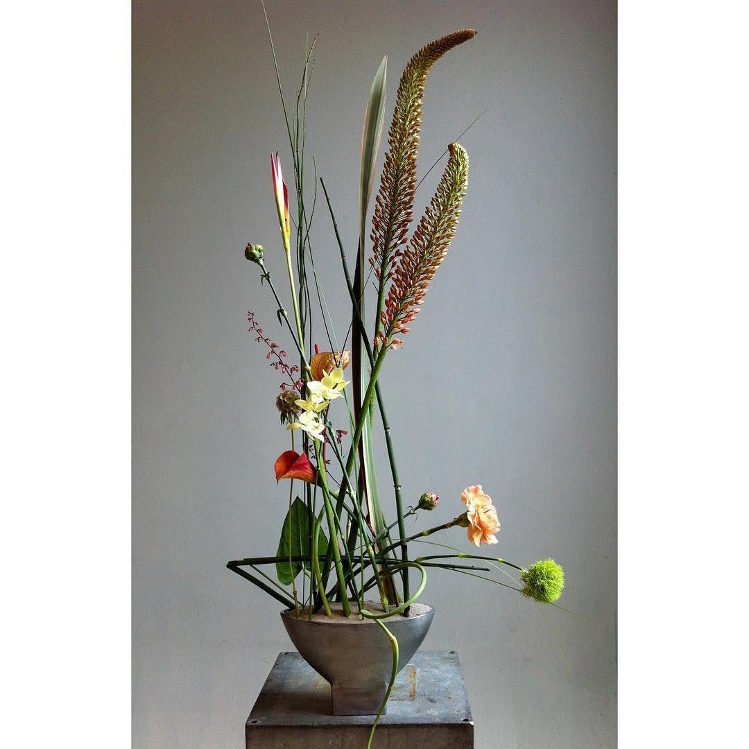 A study in lines and forms .... mostly lines!! #markpampling #floraldesigner #floraldesign #floralart #gregorlerschworkshop #lines #linestudy #lovelines #floraldesignexploration