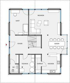 Grundriss einfamilienhaus schlafzimmer im erdgeschoss  Grundriss Erdgeschoss | haus | Pinterest | Erdgeschoss, Grundrisse ...