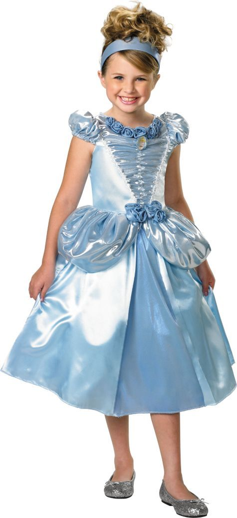 Girls Shimmer Cinderella Costume - Party City Party Ideas - halloween costume girl ideas