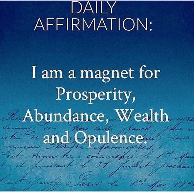 I am a for prosperity abundance wealth opulence