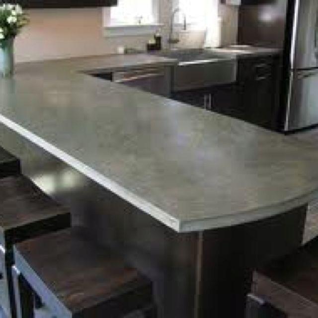 Concrete Countertop Kitchen Pinterest Quiero y Cocinas