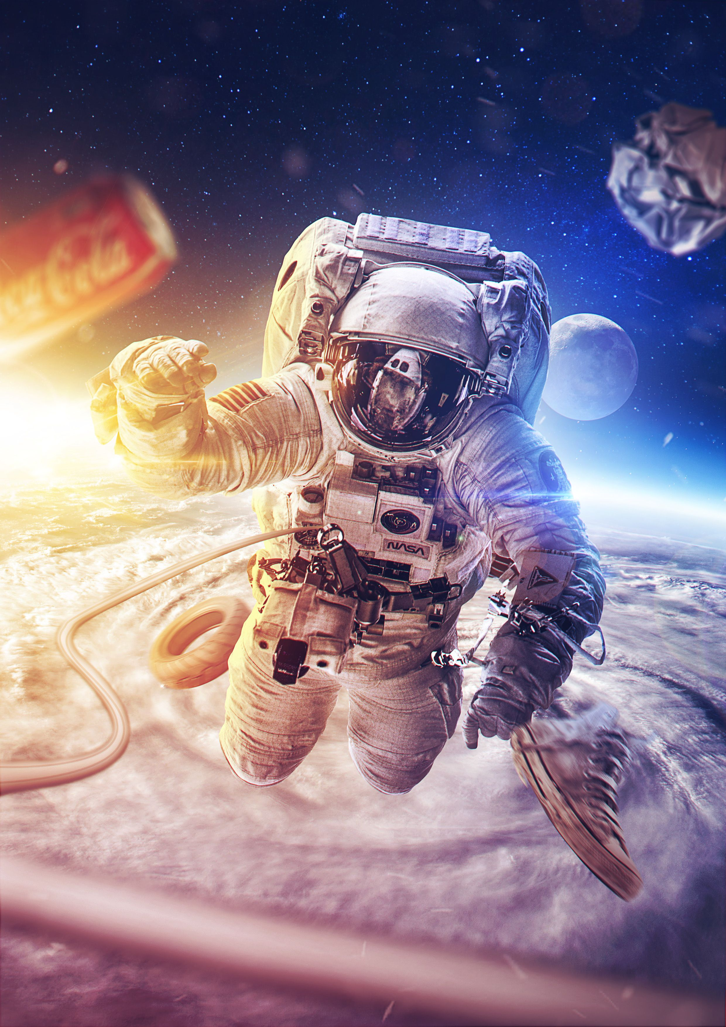 astronaut in the space - photo #23