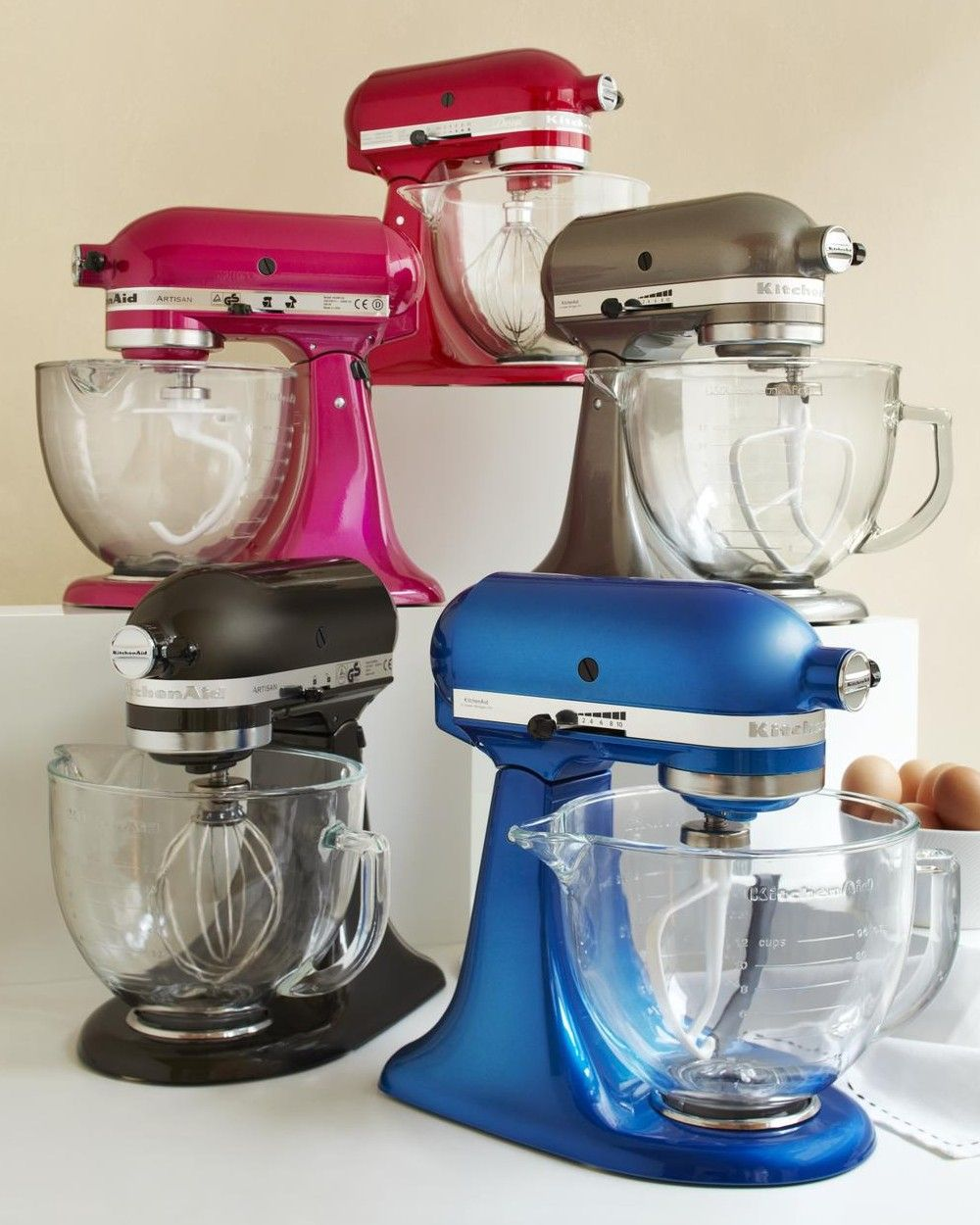 Kitchenaid platinum collection includes glass bowl and