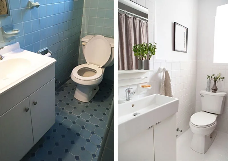 Reglazing Tile Is The Most Transformative Fix For A Dated Bathroom In 2020 Painting Old Bathroom Tile Reglazed Bathroom Tile Bathrooms Remodel