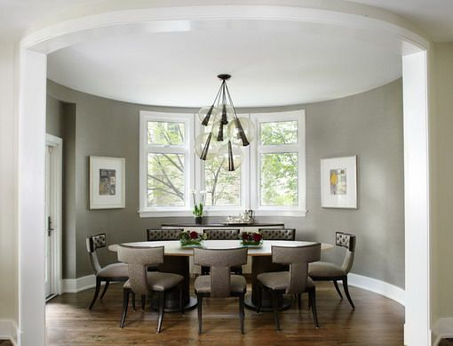 Soft Grey and White Dining Room Designs Grey Dining room
