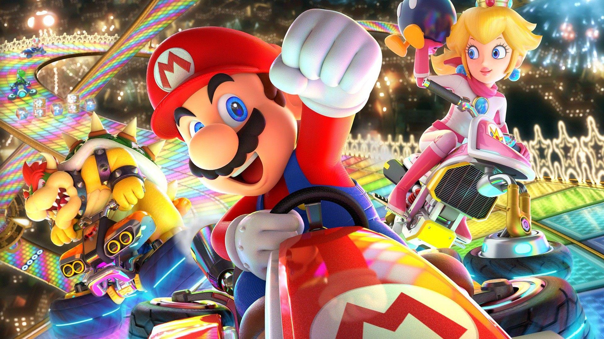 Lovely Mario Kart 8 Deluxe Iphone Wallpaper In 2020 Mario Kart Nintendo Mario Kart Mario Kart 8