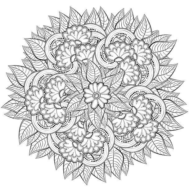 Risultati immagini per mandala fiore di loto da colorare for Fiori grandi da colorare