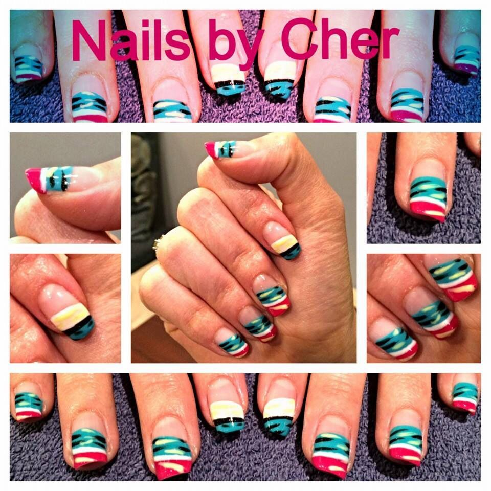 Tribal nail art by Cher- OPI Brazillian collection