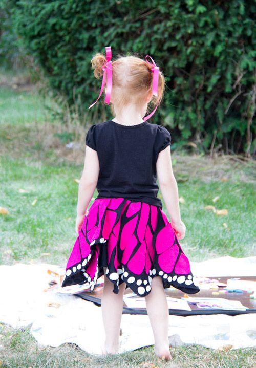 Monarch Butterfly Petal Skirt-Halloween Costume Tutorial (Jessica - green dress halloween costume ideas
