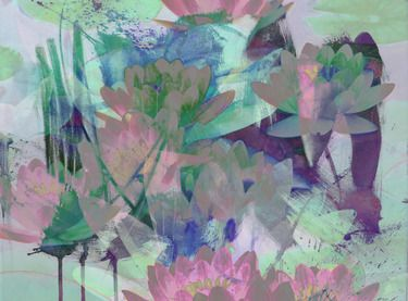 "Saatchi Online Artist Stephen Washington; New Media Art, ""Water Lilies #1"" #art"