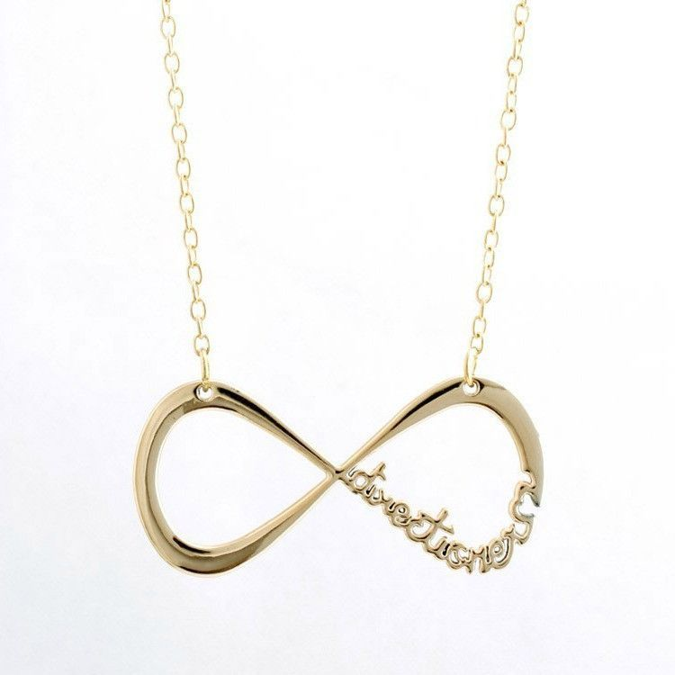 One Direction Infinity Gold Necklace Gold Necklace One Direction Gold