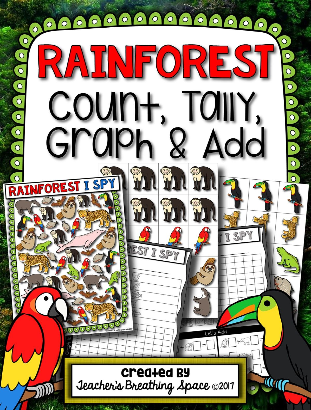 Rainforest Count Tally Graph And Add Rainforest