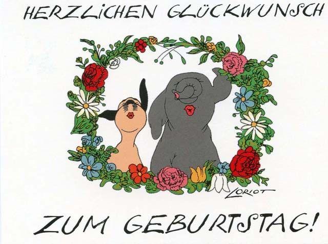 Loriot Postkarte Wum Und Wendelin Herzlichen Gluckwunsch Zum