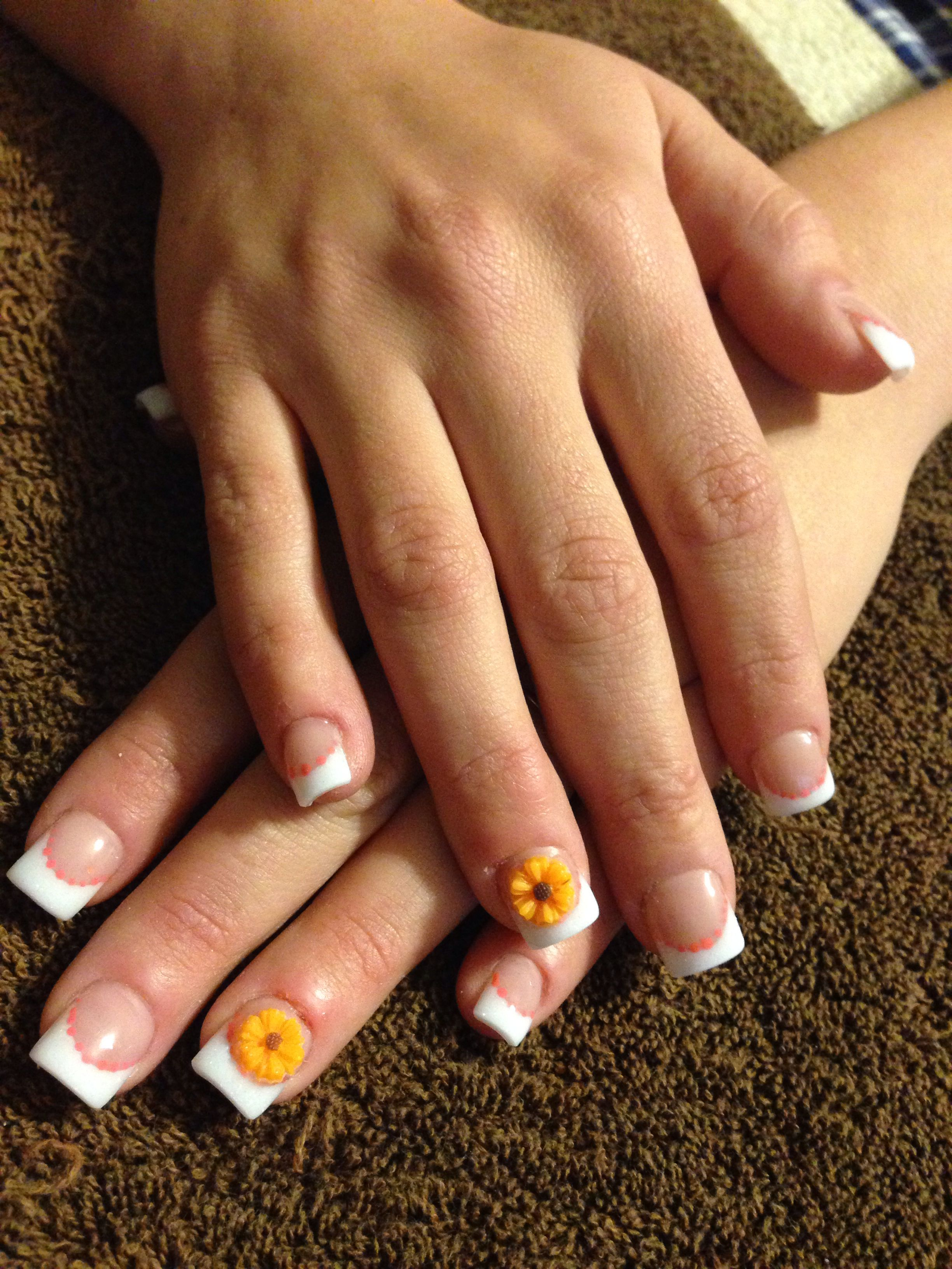 Wedding fall acrylic nails