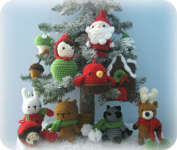 Diy crochet christmas ornaments weihnachten h keln for Weihnachtshirsch deko