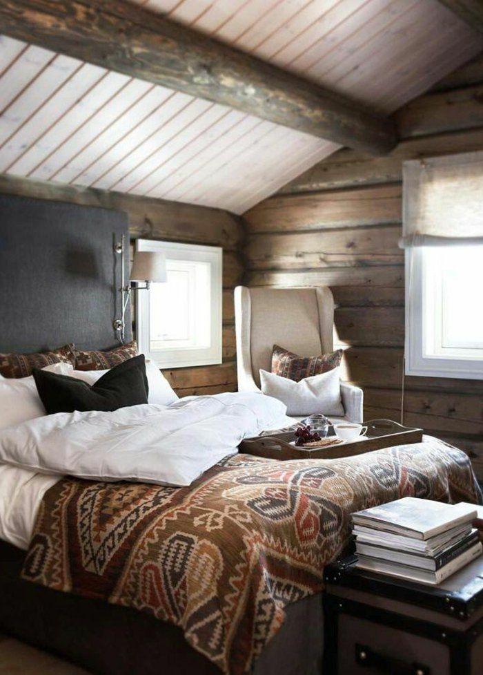 Suite Parentale De Style Rustique En Bois Massif, Deco Chambre Parentale