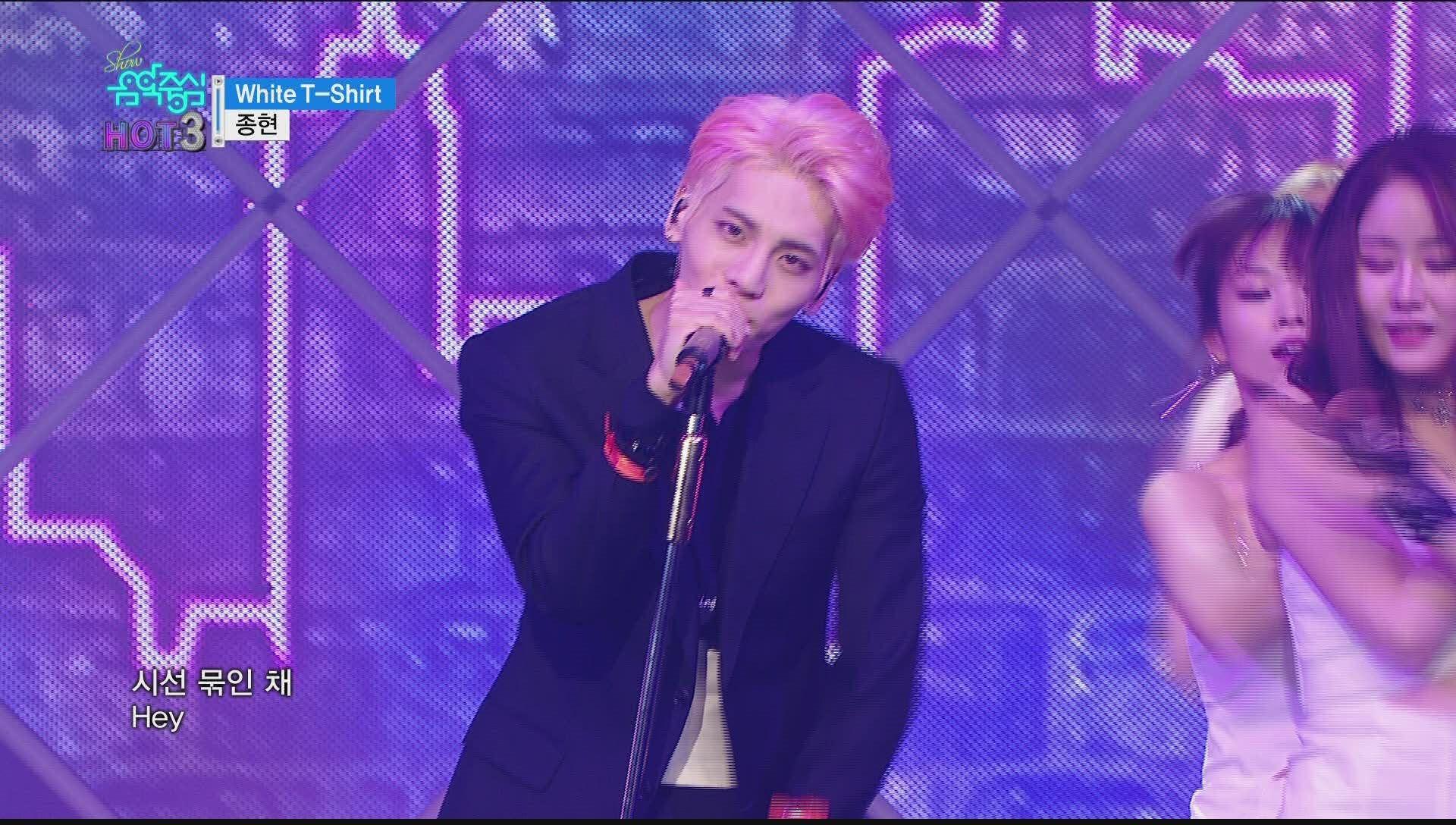 [Comeback Stage] JONG HYUN - White T-Shirt, 종현 - 화이트 티셔츠 Show Music core...