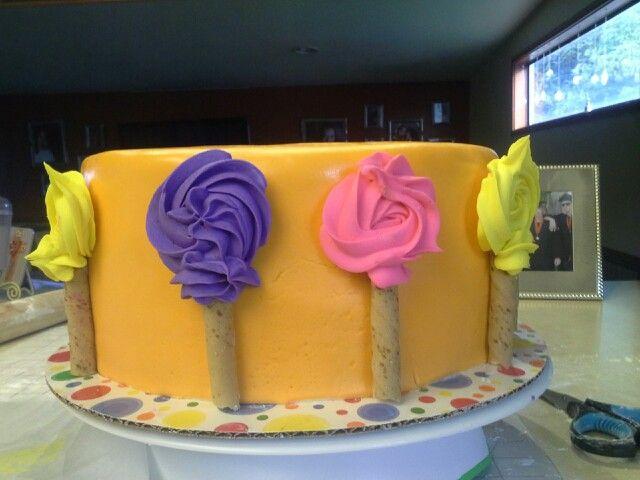 2. Lorax trees: dr. Seuss baby shower cake