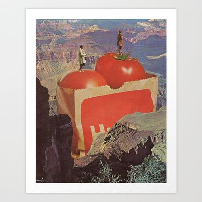 a woman's place Art Print by Jesse Treece - $19.00