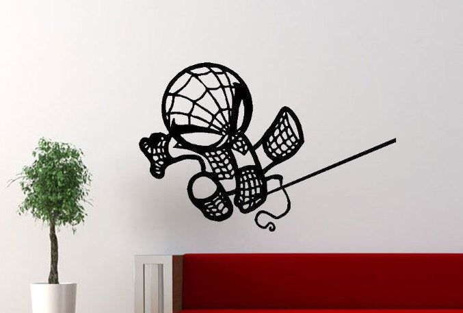 Spiderman Wall Art the avengers baby spiderman wall decals, avengers wall art