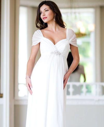Modelos de vestidos para novias embarazadas