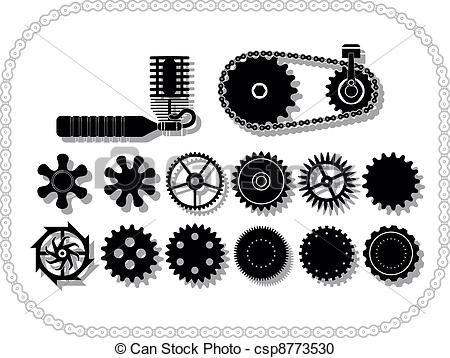 Vector Ruedas Mecanismos Stock De Ilustracion Ilustracion Libre De Stock De Iconos De Clip Art Logo Arte Lin Arte Vectorial Arte Lineal Dibujo Grafico