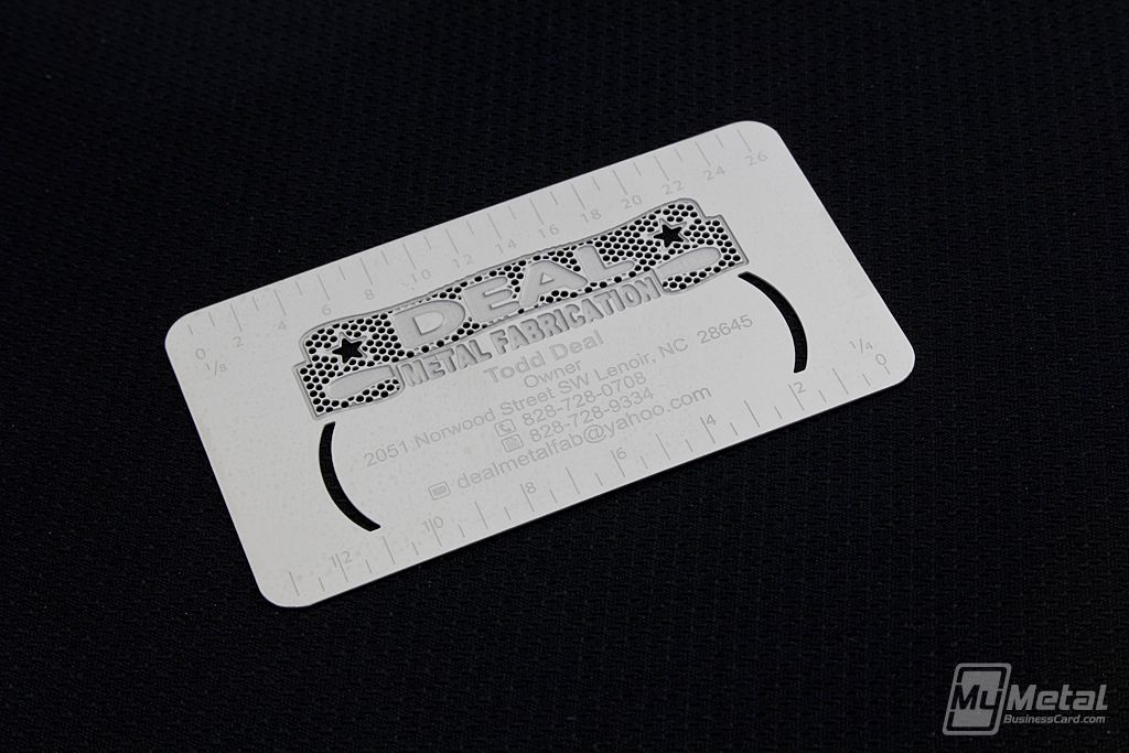 Ruler business card by mymetalbusinesscard cutout etching ruler business card by mymetalbusinesscard cutout etching colourmoves