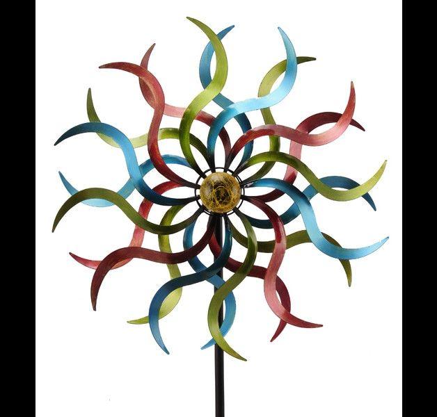 diese sonnen windr der mit solar licht werden in liebevoller handarbeit gefertigt die kugel ist. Black Bedroom Furniture Sets. Home Design Ideas