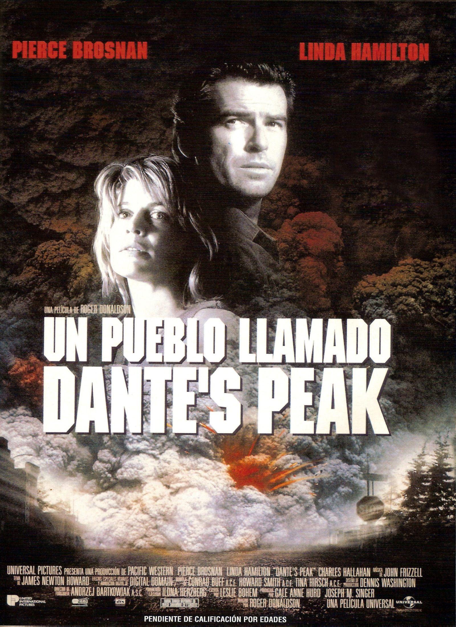 Cartel Español de Un pueblo llamado Dante's Peak
