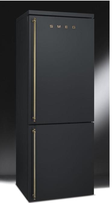 Smeg Matte Black And Brass Refridgerator Fridge Whoa