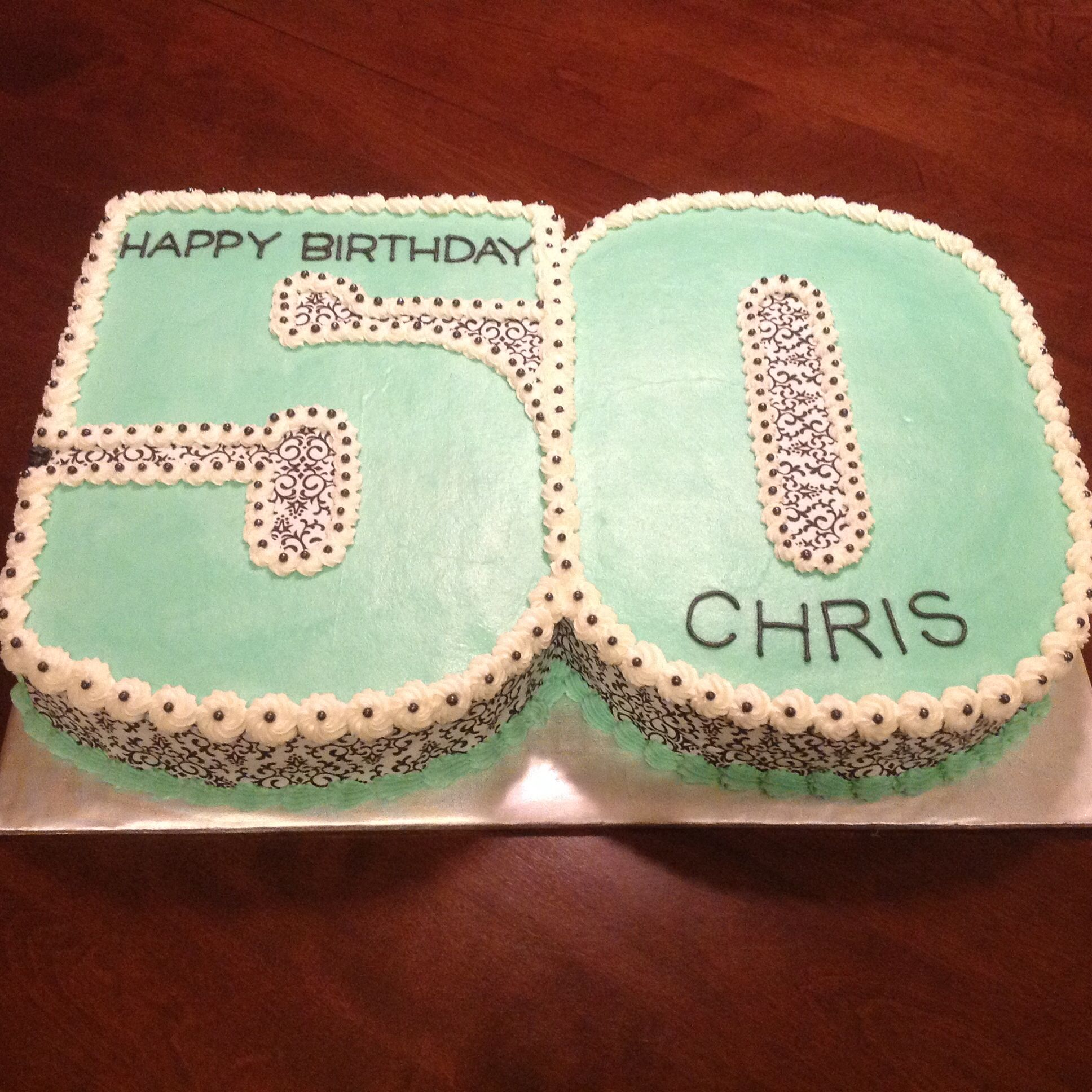 50th Birthday cake with buttercream and sugar sheets Cakes I Have