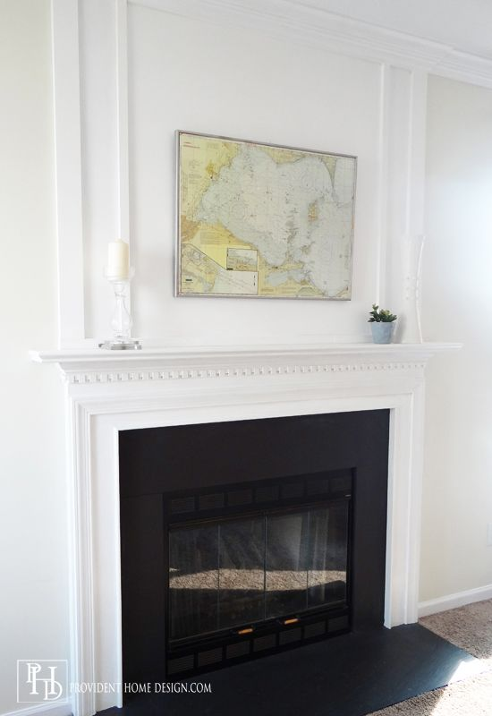 How To Add Woodwork Trim Above A Fireplace Mantel Provident Home Design Featured On Remodelaholic Fireplace Mantels Fireplace Trim Fireplace