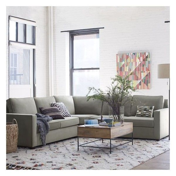 West Elm Henry Set 9 Wedge Right Arm Loveseat Left Arm