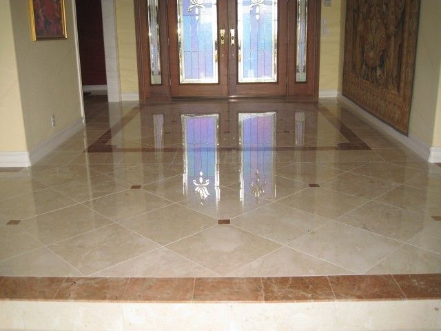 marble floors | Marble Floors Entry With Border Design in Rancho ...