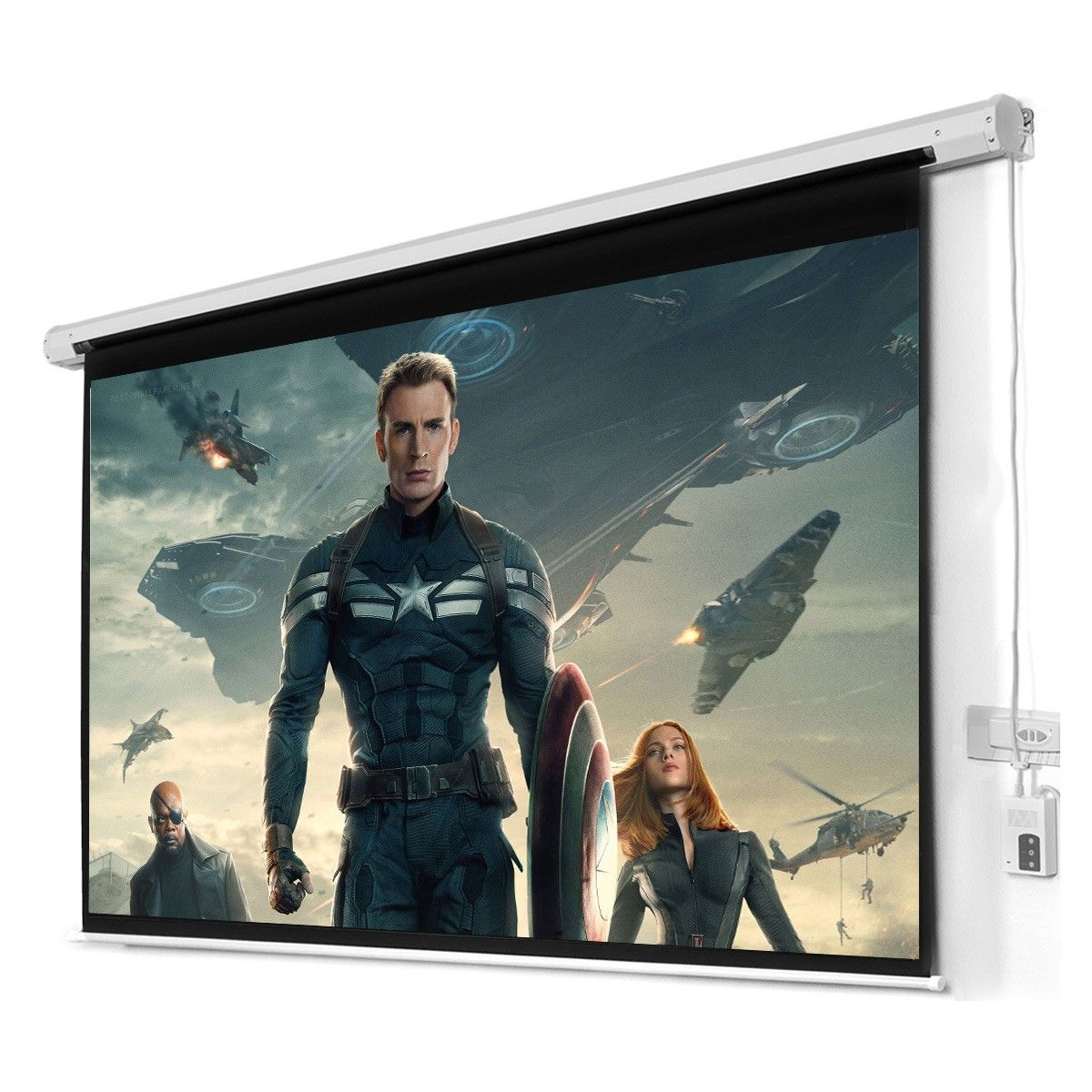 "New 100"" 16:9 HD Foldable Electric Motorized Projector ..."