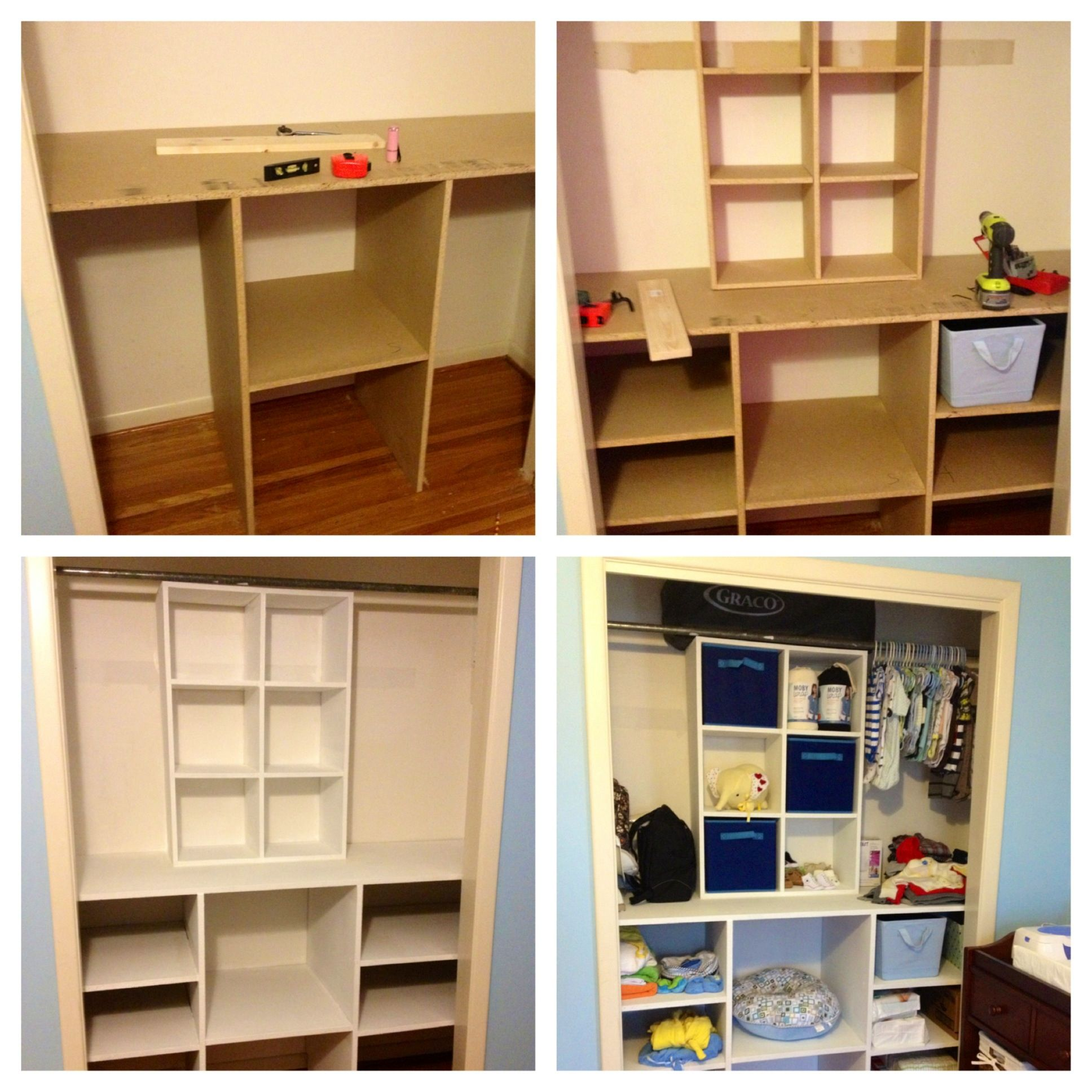 Diy baby closet organizer diy closetorganizer organization house pinterest diy baby - Diy closets for small spaces model ...