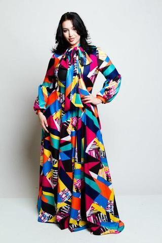 Plus Size Colorblocked Bow Maxi Dress | Clothes | Dresses, Plus size ...