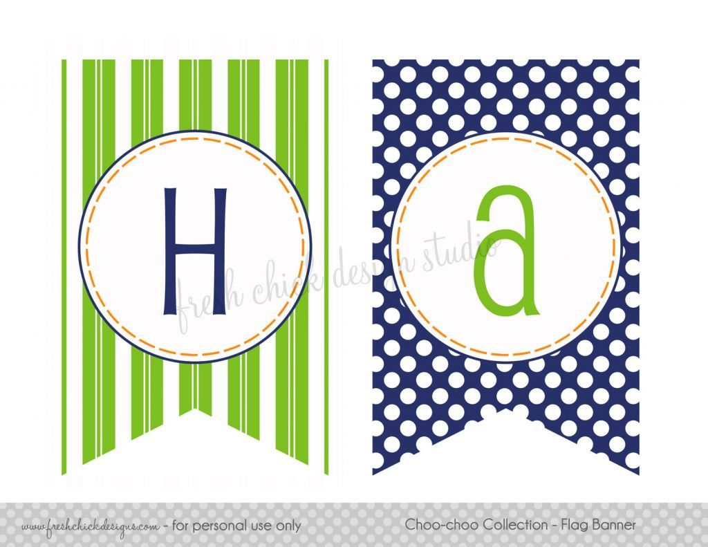 Free Printable Happy Birthday Banner Letters Pdf