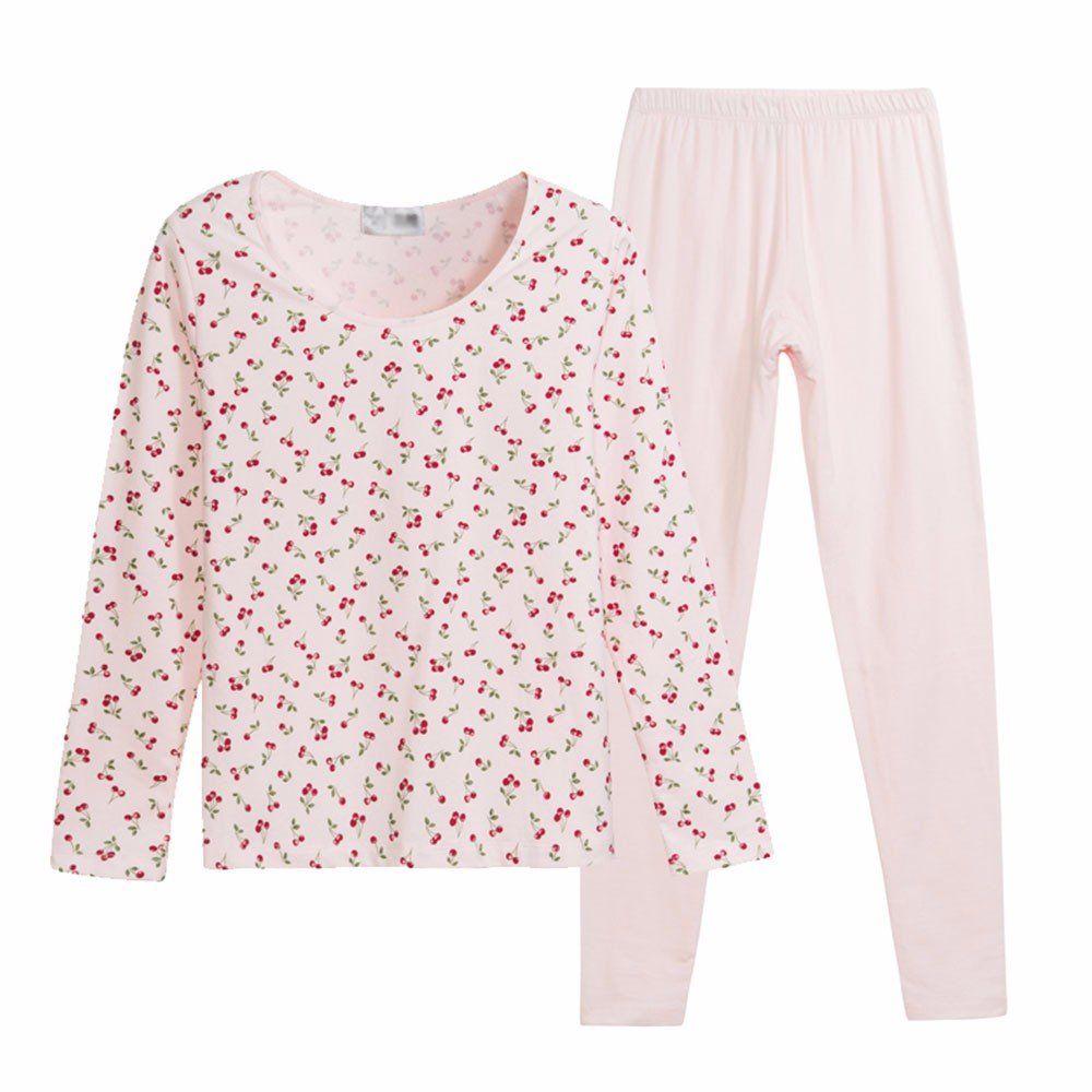 25150633bd8b Amazon.com: LVLIDAN Thermal Underwear set Ladies Winter stretchy Slim Fit  pink M: Sports & Outdoors