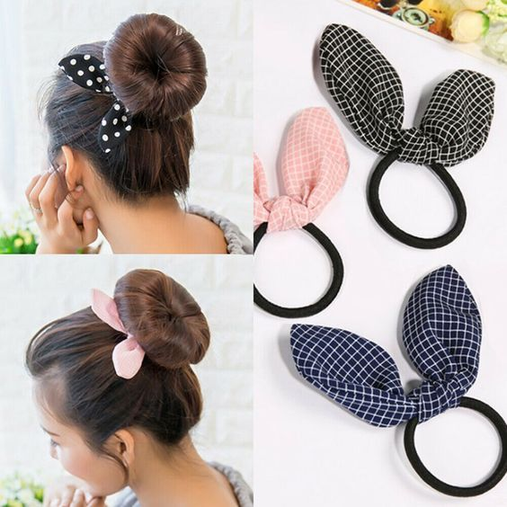 Bow Dot Scrunchie Hair Band Elastic Hair Ties Rope Ponytail Holder Accessories