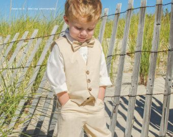 Boy Rustic Outfit Toddler Boys Suit Tan Color Vest S Horts Or