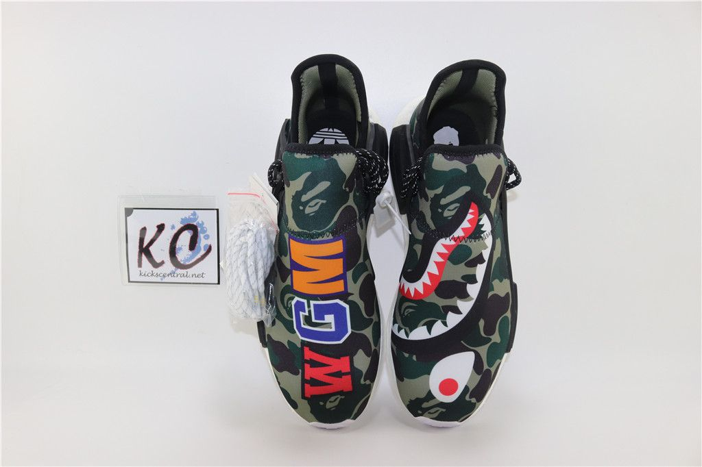 df2eea1d8d64 Bape x Pharrell Williams x Adidas NMD Human Race BB0623