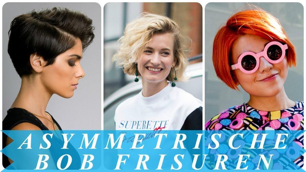 Coole Asymmetrische Frisuren Damen Den Fruhling 2018 Youtube