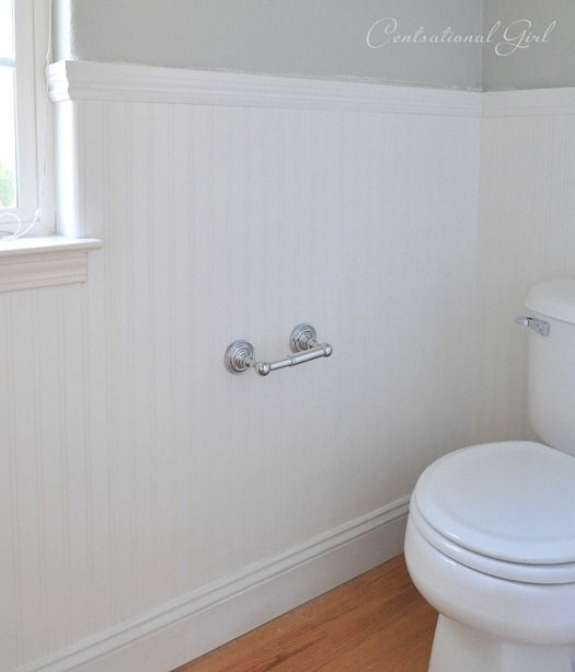 Installing Beadboard Wallpaper For The Home Diy Bathroom