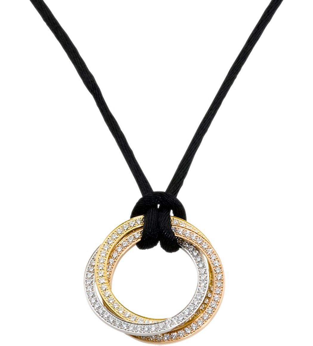 Cartier trinity 18ct gold and diamond pendant necklace 1400000 cartier trinity 18ct gold and diamond pendant necklace 1400000 aloadofball Images