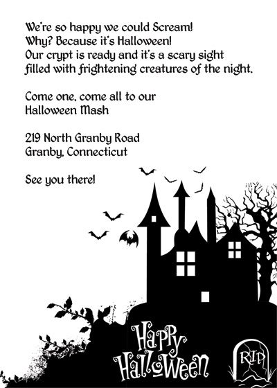 free halloween birthday invitation templates free halloween haunted house printable invitation printable
