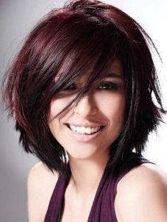 Aubergine hair colour