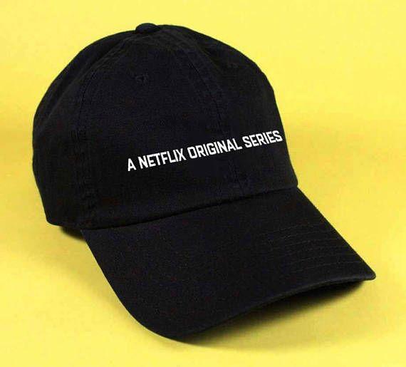 b4d10b07cfb new A NETFLIX ORIGINAL SERIES Baseball Hat Dad Hat White Pink