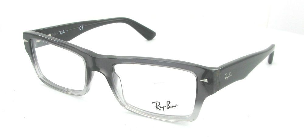 54e9c7ae01 NEW RAY BAN MEN WOMEN PLASTIC GRAY CLEAR RX EYEGLASSES RB 5254 5058  52-18-140